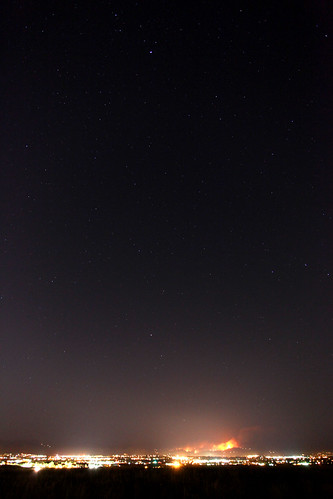 Boulder fire, with some stars...