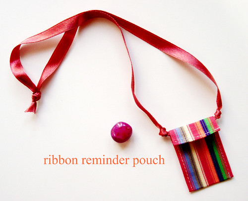 ribbon reminder pouch