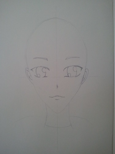 Anime Girl - Step 3