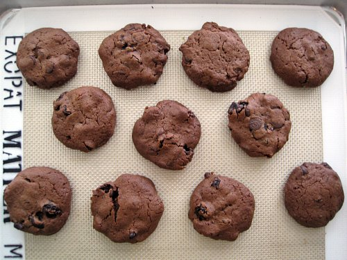 Double Chocolate Cherry Chip Cookies
