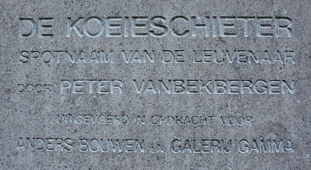 De Koeieschieters: inscriptie