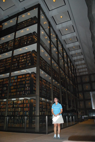 1Amanda inside Beinecke Rare Book and Manuscript Library (2)