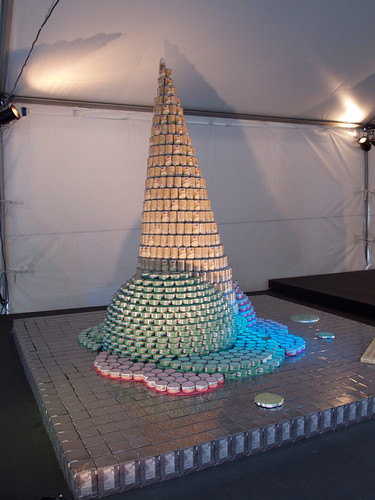 Canstruction: Ice Cream Cone