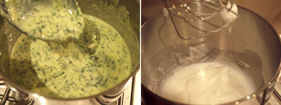 Cheese & spinach souffles - Method 2