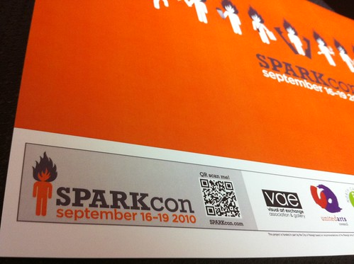 Sparkcon Posters with QR codes