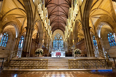 st mary's cathedral (Pawel Papis Photography) Tags: church architecture stairs design sandstone cathedral gothic sydney australia wideangle arches stainedglass symmetry ceiling altar newsouthwales catholicchurch pillars stmarys pawel stmaryscathedral
