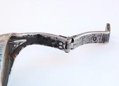 Libertus Bracelet (2010, IT) Bracelet 19.6 (Blind Spot Jewellery) Tags: iron blind contemporary steel jewelry spot jewellery bracelet cuff brass forged jewel wrought blindspot libertus blindspotjewellery