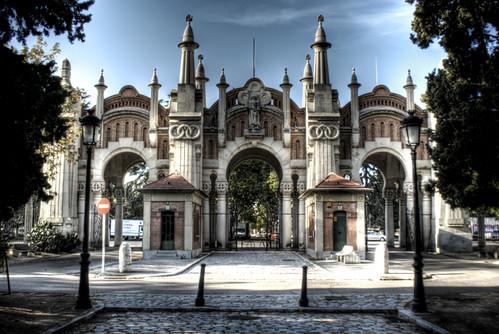 Almudena cemetery entrance. Madrid. Entrada al Cementerio de la Almudena