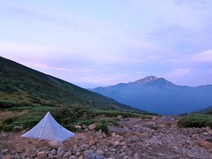 """Mt.KurobeGorodake and Khufu Cuben at Kumono-daira camp site • <a style=""""font-size:0.8em;"""" href=""""http://www.flickr.com/photos/40286809@N02/4976345739/"""" target=""""_blank"""">View on Flickr</a>"""