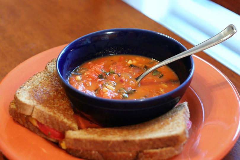 Tomato Basil Pine Nut Soup