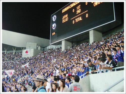 ゴール裏の風景@日本代表 VS グアテマラ代表_201009