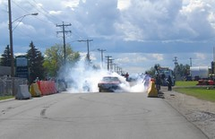 Mopar Power (blondygirl) Tags: auto car plymouth mopar burnout cuda 1973 sprucegrove plymouthcuda burnoutcompetition cruisersofthepast grovecruise cudaburnout