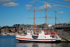 ship (arkhip) Tags: red sea ship sweden kartpostal