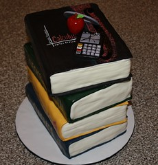 Stacked Book Cake 1 (sweetmother1) Tags: apple geometry books math calculator calculus stacked protractor