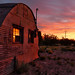 A new dawn over the deserted shed