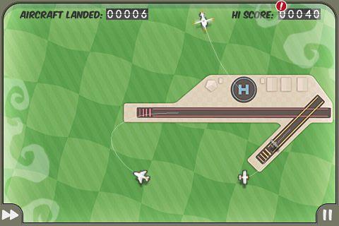 iPhoneゲーム「FlightControl」のプレイ画面