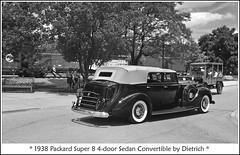 Packard and Depot Hack (sjb4photos) Tags: car 2009motormuster greenfieldvillage packard 1938packard autoglamma monochrome