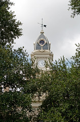 Goliad County Courthouse (stevesheriw) Tags: texas goliad goliadcounty goliadcountycourthousehistoricdistrict nationalregisterofhistoricplaces 76002034 courthouse courthouses texascountycourthouses 1894 alfredgiles secondempire architecture stone brick clock tower