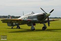 G-HHII - BE505 - CCF R20023 - Hanger 11 - Hawker Hurricane Mk2B - Duxford - 100905 - Steven Gray - IMG_5979