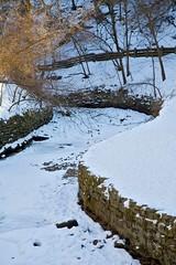 Minnehaha creek curves (Studiobaker) Tags: park trees winter snow cold tree brick ice minnesota stone wall composition creek south curves minneapolis bank falls mpls icy mn minnehaha studiobaker