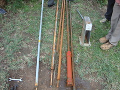 Ebumamu pri.school-rusted rods,GI pipes and sunction of juakali pump.