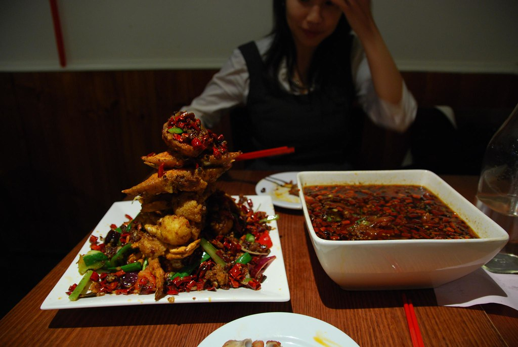 Spicy Crabs, Tasty Pork Feet with Lotus Root - Sichuan House AUD39.80, AUD21.80 - dark