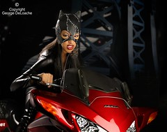 Prowler Kitty (George DeLoache) Tags: california wedding portrait people woman usa cat honda photography adult fulllength longhair africanamerican studioshot sensuality blondehair youngadult catwoman adultsonly oneperson freshness confidence individuality blackwoman colorimage onewomanonly sekonic oneyoungwomanonly cityoflosangeles onlywomen platinumphoto sekonicl758dr l758dr