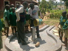 Ebumamu Primary School-chlorination of rehabilitated well.