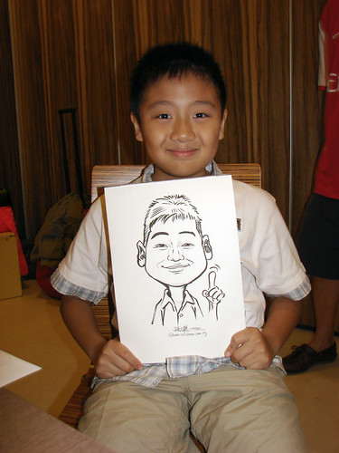 Caricature live sketching for birthday party 11092010 - 1