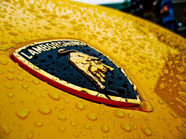 Rainy lambo badge