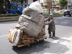 Rcycling Cardboard P9180018 (AndreHugosPlace) Tags: man work quito ecuador poor cardboard recycle andrehugosplace