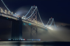 (exxonvaldez) Tags: sanfrancisco fog night baybridge hdr sfist pier30