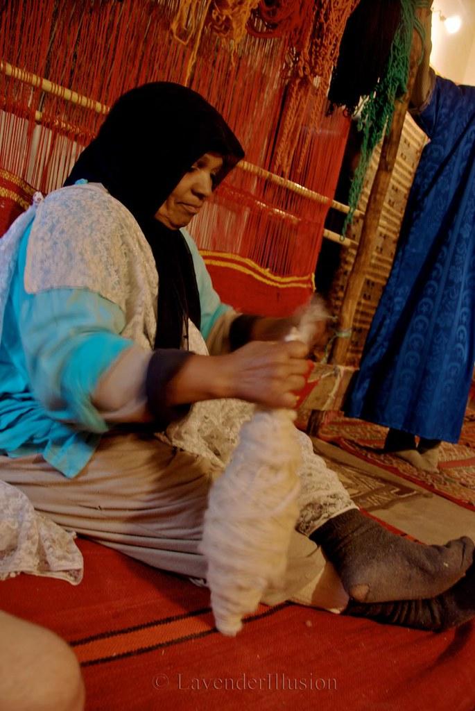 Berber carpet making