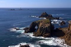 Land's End, Cornwall (StewieD) Tags: ocean uk greatbritain blue sea england water rock coast cornwall waves unitedkingdom atlantic landsend coastline geology atlanticocean rockformation holeintherock