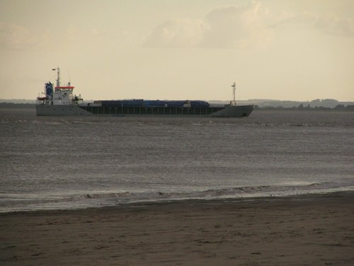 Ship in the Humber Estuary