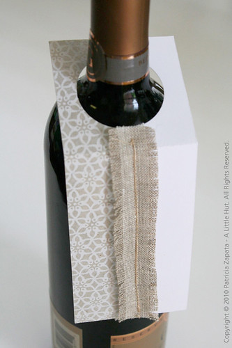 recycling project - wine tag