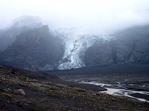 Edge of the Eyafjallajökull glacier