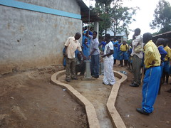 Bulovi primary school-joining of pump rods during pump attachment.