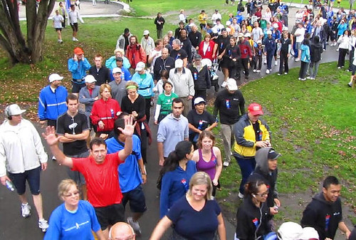 Going to Start Line. Vancouver's Terry Fox Run 2010 Re-ignites Marathon of Hope at 30th Anniversary in Stanley Park