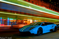 Lamborghini Murcielago LP670-4 SV (Richard T Smith) Tags: street light london photoshop t ana bahrain nikon long exposure flickr dubai martin ghost trails smith knightsbridge trail richard saudi arabia rolls fav kuwait phantom bugatti mayfair lamborghini supercar v8 royce sv aston zonda qatar dbs londen c9 veyron murcielago ksa db9 pagani sloane d60 arabien torquise althani qatari hypercar lp6704