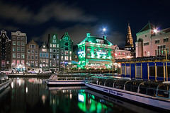 Amsterdam @ Moonlight (DolliaSH) Tags: city longexposure travel light vacation moon holiday holland color reflection tourism colors dutch amsterdam night canon boats lights noche boat canal topf50 europe barca barco tour place nightshot nacht nederland thenetherlands visit location tourist journey destination moonlight nightlife kanal traveling visiting topf100 nuit notte touring stad 1022 canale noordholland gracht noun canonefs1022mmf3545usm thegrasshopper nachtopname canoneos50d lodka dollia dollias sheombar dolliash