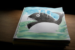 Killer Whale Drawing (DSLR_MANIA) Tags: canon eos drawing dick korea killer seoul whale kindergarten moby southkorea canonef2470mmf28lusm ef2470mmf28lusm  markii   scetchbook republickorea canonef2470mmf28usm zuidkorea  5dmarkii dslrmania 5dm2 5dmark2 republiquedecoree poblachtnacoire