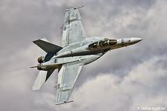 Super Hornet (mvonraesfeld) Tags: clouds flying championship military air flight navy jet airshow national rhino reno races usn 2010 fa18 superhornet vfa122 img5017