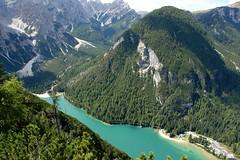 Pragser Wildsee from Großer Apostel (WeatherMaker) Tags: italien italy lake mountains alps lagodibraies dolomites südtirol altoadige prags hochpustertal sextenerdolomiten altapusteria dolomitydisesto pragsewildsee