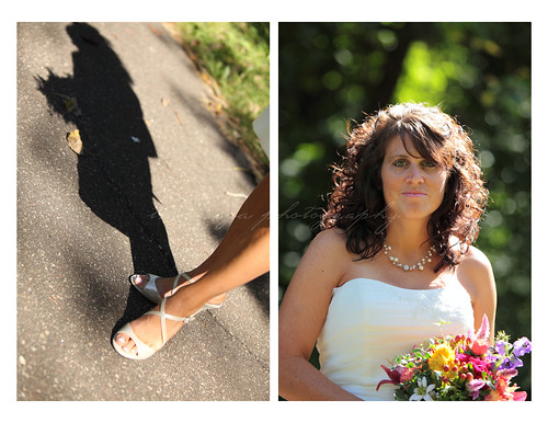 bride alone collage