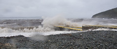 Hurricane Igor hits St. Philip's Beach (Robert J Baker) Tags: ocean storm beach rain newfoundland nikon waves wind hurricane wave igor stphilips d90