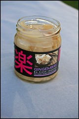 5017194182 4dc4d24df9 m Blinis, chantilly au wasabi, crevettes grises et pickle de gingembre