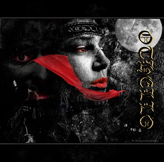 Othello (h.koppdelaney) Tags: life venice red white black art digital photoshop emotion symbol flag picture shakespeare philosophy passion metaphor drama jealousy othello psyche symbolism psychology archetype desdemona koppdelaney