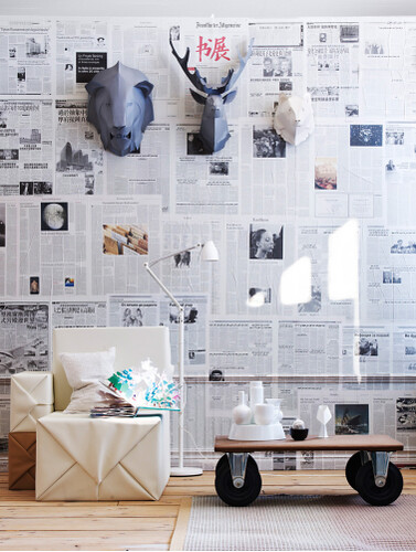 newspaper-walls