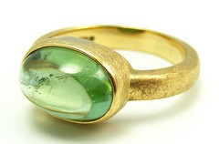Fionas green tourmaline ring
